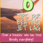 How to Beat Jet Lag - The Office Escape Artist    Do you have an overnight flight coming up? Don't let your first day go to waste! You can beat jet lag with these 6 tips. These are the best tips for long, overnight flights to Europe, Asia, and elsewhere! #howtobeatjetlag #jetlag #traveltips #travelhacks #flyingtips #flyinghacks