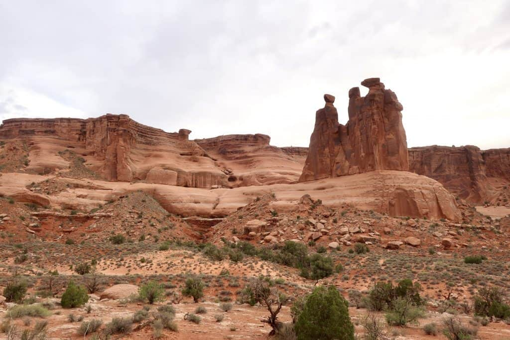Three Gossips - Arches National Park 1 Day Itinerary