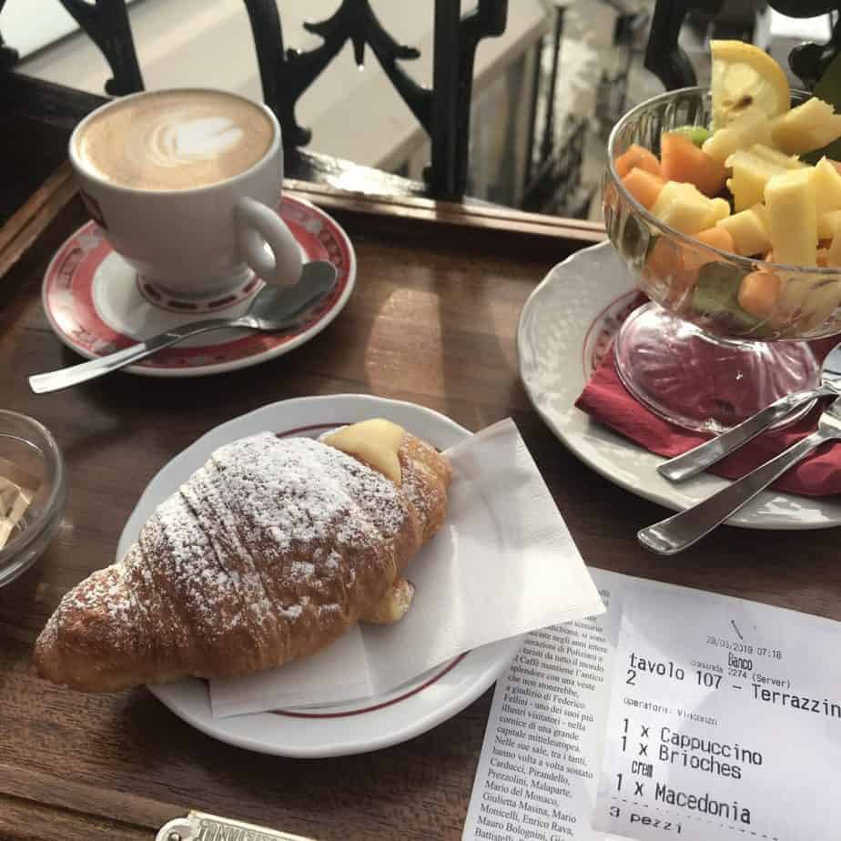 Caffe Poliziano - Terrace Breakfast - Montepulciano - How to Order Coffee in Italy