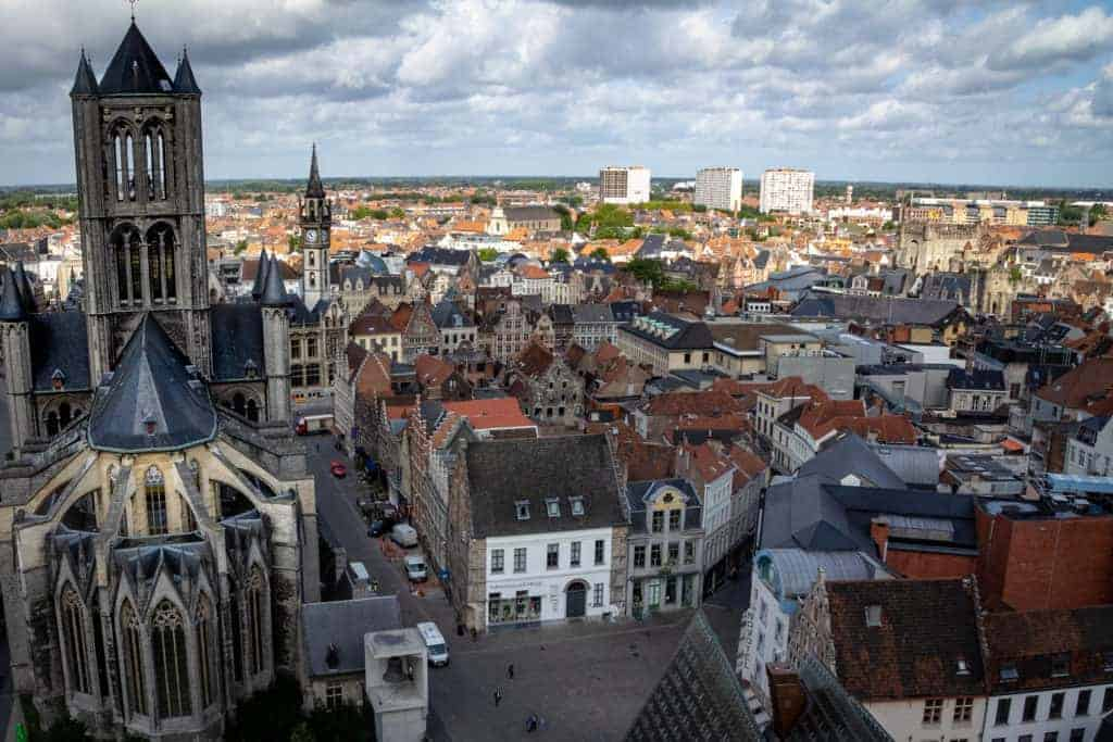 View from Belfry Ghent